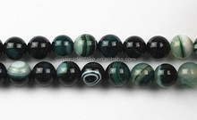 Bast price Wholesale Dark Green Stripe Agate Plain Rounds