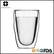Home goods clear double wall glass coffee cup wholesale