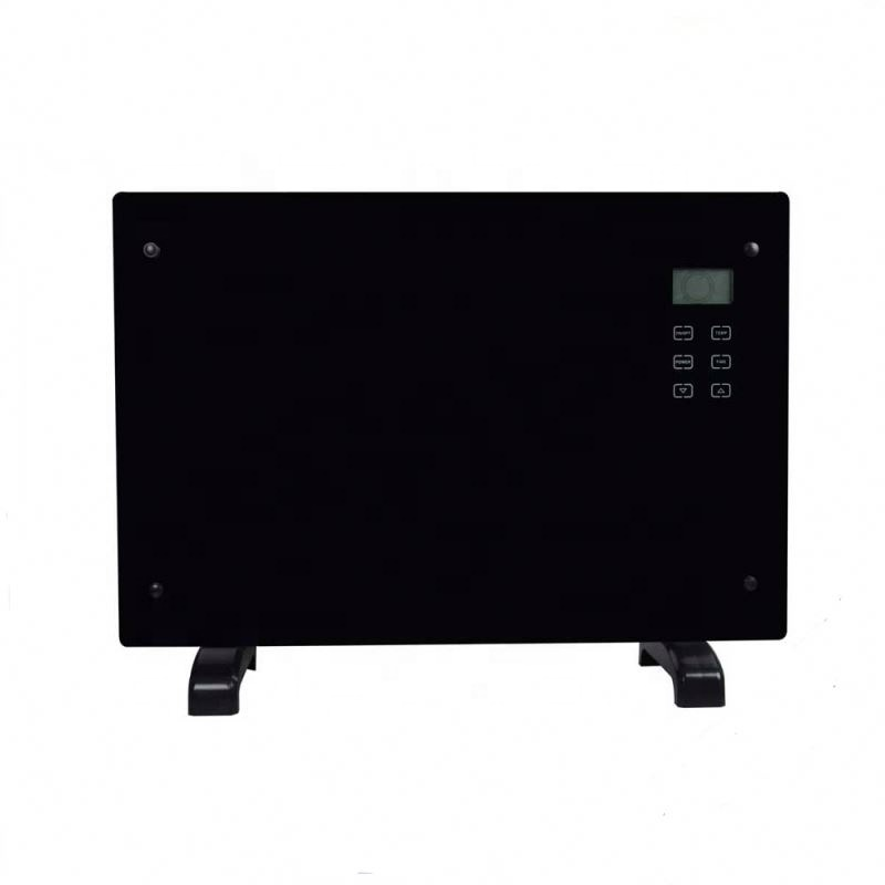 LED display remote control ECO slimline black electric wall glass panel <strong>heater</strong>