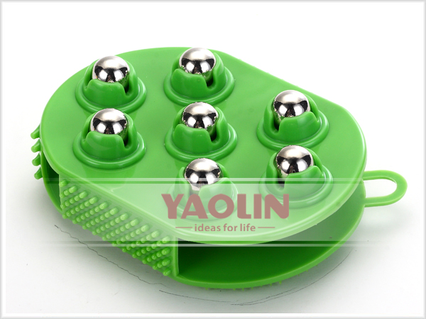 plastic magnetic rolling balls massager massage body