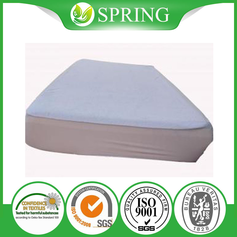 Microfiber Zippered Mattress Cover, Bed Bugs Shield- Vinyl Free - Fitted Mattress Cover,cotton terry surface, Hypoallergenic