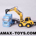 re-0232b radio control tow truck 1:32 RC Tow truck with excavator