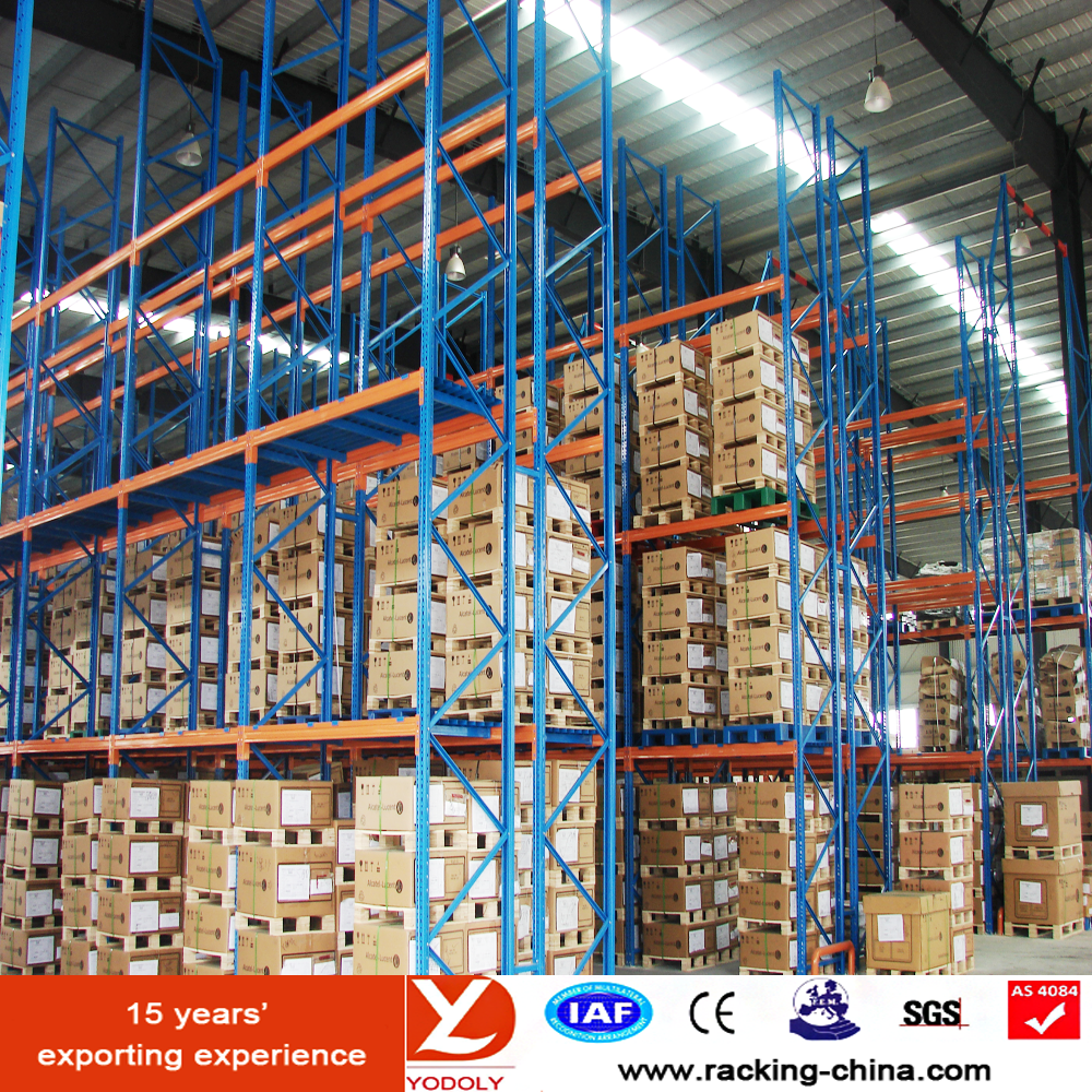 Selective Iron Heavy Duty Pallet Stacking Racking Manufactured by Yodoly