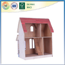 Natural unfinished wood craft hinged box is favorite play house