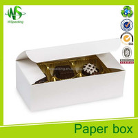 Decorative wedding cake box design swiss roll cake box