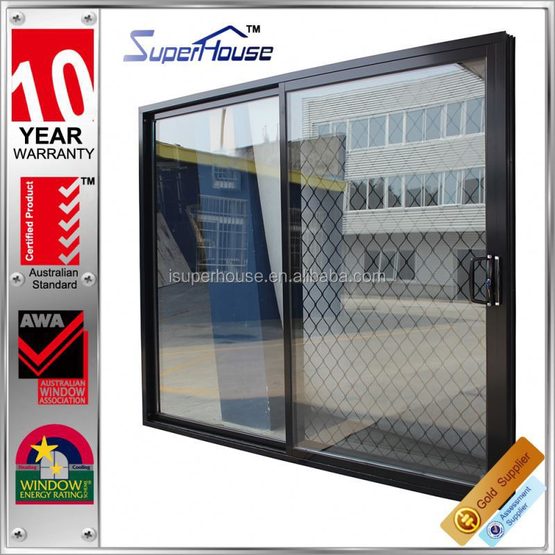 New design ANSI standard glass wind proof sliding french doors