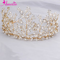 Luxurious Bridal Hair Crown Rhinestone Floral Tiaras King Crowns Wedding Hair Accessories Women Hair Ornaments Tiara