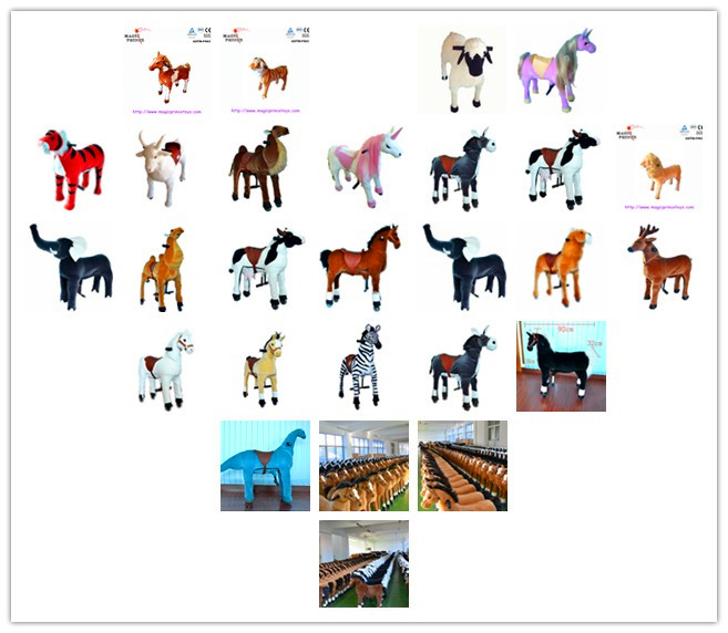 (EN71&ASTM&CE)~(Pass!!)~Dalian China Stuffed&Plush Toy Animal horse Pony Walking Animals ride On toys Wheels for sale