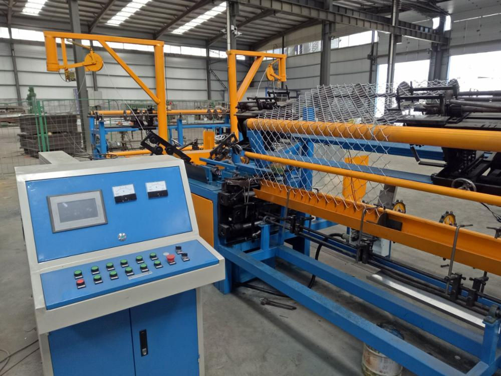 CNC single wire fully-automatic chain link fence machine with compact roll