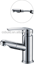 KB-07 innovative product customized gravity casting deck installation bathroom single handle pull out basin faucet
