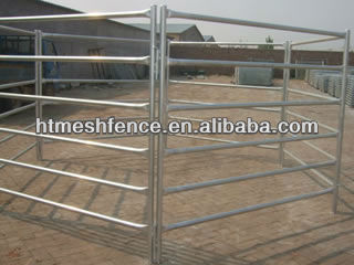 Australia standard Oval Rail Cattle Yard Panels /sheep panel/ horse panel livestock yard