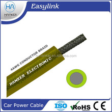 Transparent building wiring electrical car power cable