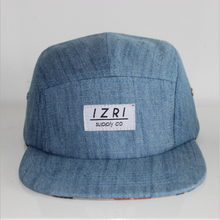 Popular Custom Denim Snapback Caps Embroidery Label Tag 5 Panel Hat