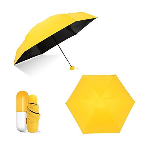 Mini Capsule Umbrella Ultra Light 2017 New Design , Anti-UV UPF 50+ Sun Umbrella Folded