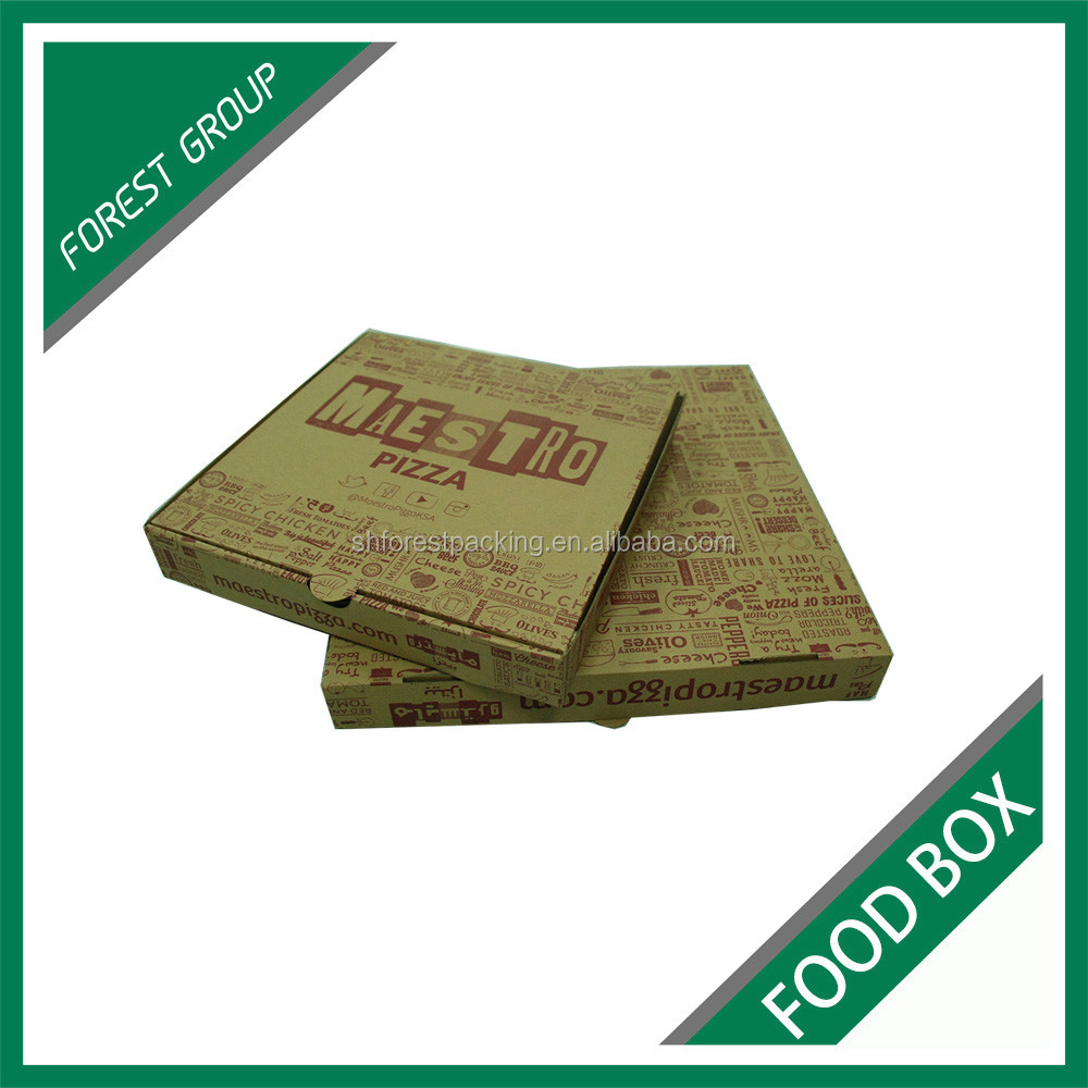 WHOLESALE 12 INCH BROWN CORRUGATED FOOD CARTON BOXES FOR PACKING PIZZA