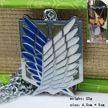 Wholesale Zinc Alloy Necklace Attack on Titan Anime Necklace
