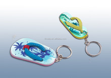 custom logo any colors flip flops key chain promotional items flipper EVA keychain