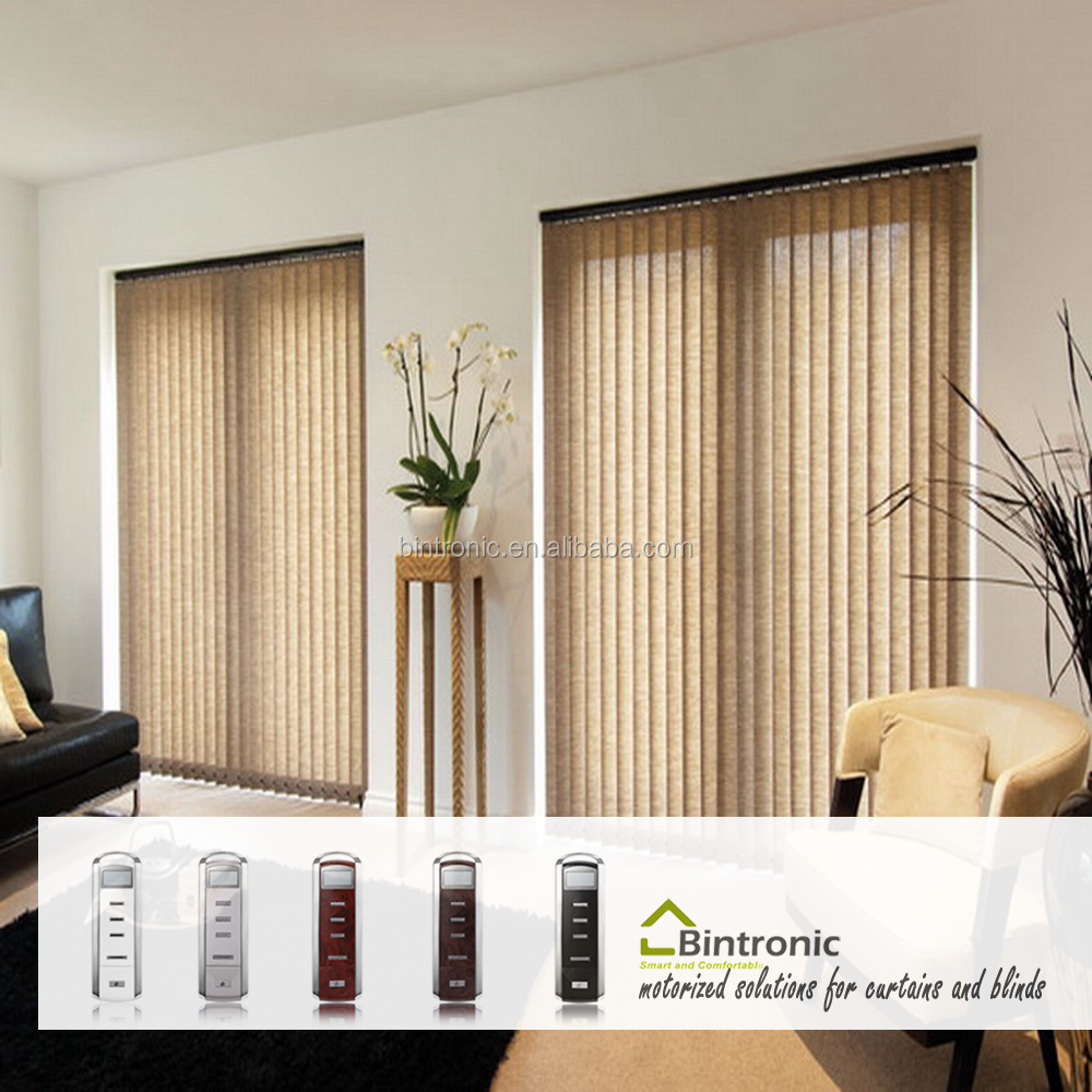 Bintronic Taiwan Motorized curtain track Motorized Vertical Blinds Electric Curtain For Sliding Window