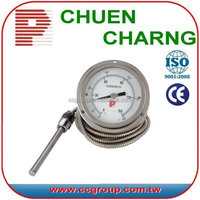 4INCH OR 6INCH STAINLESS STEEL CAPILLARY TEMPERATURE GAUGE