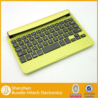 For ipad mini bluetooth keyboard 2013 new hot selling luxury ultrathin 7.7mm aluminum alloy wireless bluetooth keyboard