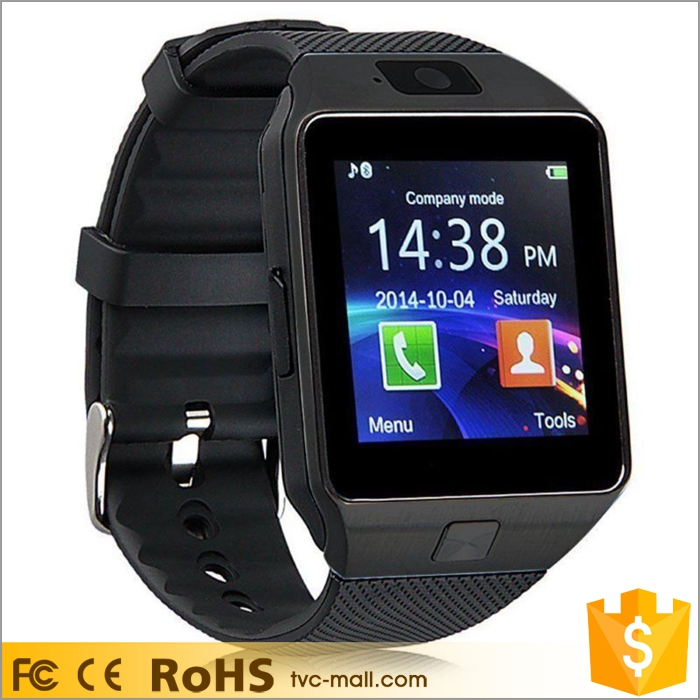 Montre Telephone Bluetooth CE ROHS Smart Watch Smartwatch 2016 DZ09 Smart Watch Phone