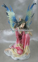 bubbles cheap resin fairy handmade bubble resin fairy sitting