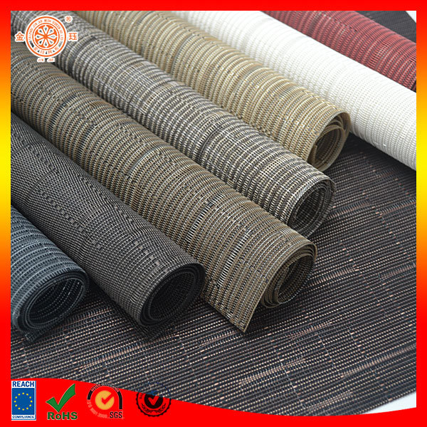 grey color pet mat bathtub shower mat ground enhancing material pvc woven floor ground covering material