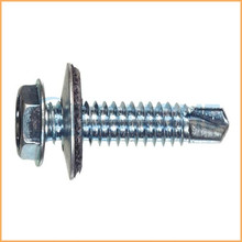 Flange head self drilling screws painted