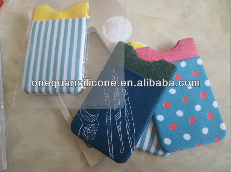2014 smart wallet elastic lylon with printing logo