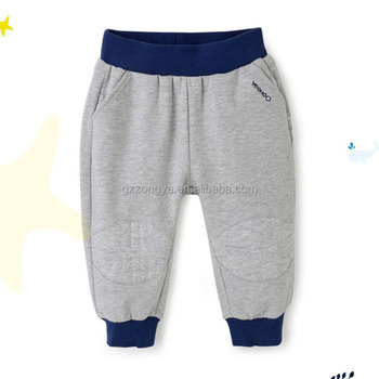 Grey color 100% cotton soft jersey pants for kids