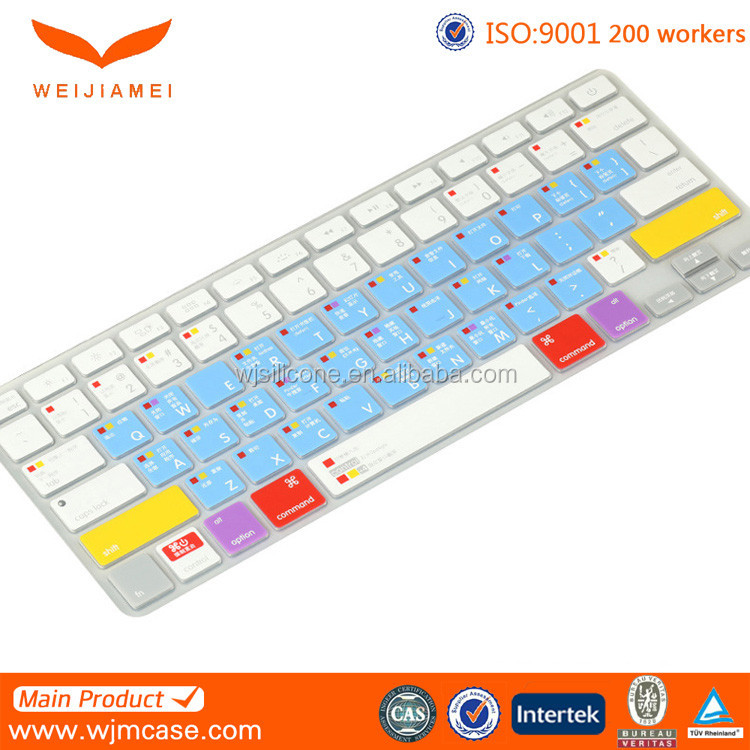 Hot selling for macbook silicone keyboard cover, waterproof silicone keyboard cover
