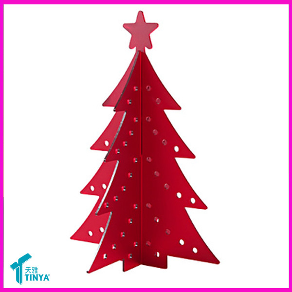 China Factory Wholesale Laser Cut Acrylic 3D Christmas Decoration Christmas Tree