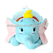 stuffed elephant plush embroidery tissue box cover