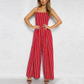 2018 Women's Sleeveless Stripe Jumpsuit Casual Fashionable female jumpsuit