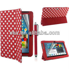 For Samsung Galaxy Tab 2 10'' Tablet P5100 P5110 Wholesales Polka Dot Magnetic PU Leather Stand Case