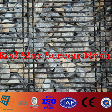 #16 65Mn High Carbon Steel Wire Mesh Screen for Vibrating Screening