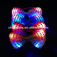 2017 newest christmas LED flashing bow tie with good price
