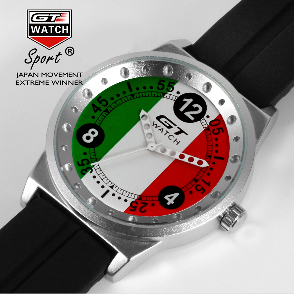 New GT WATCH Brand World Car Racing Sport Italy Men's Military Wristwatch men Fashion Quartz Campus Casual Watch