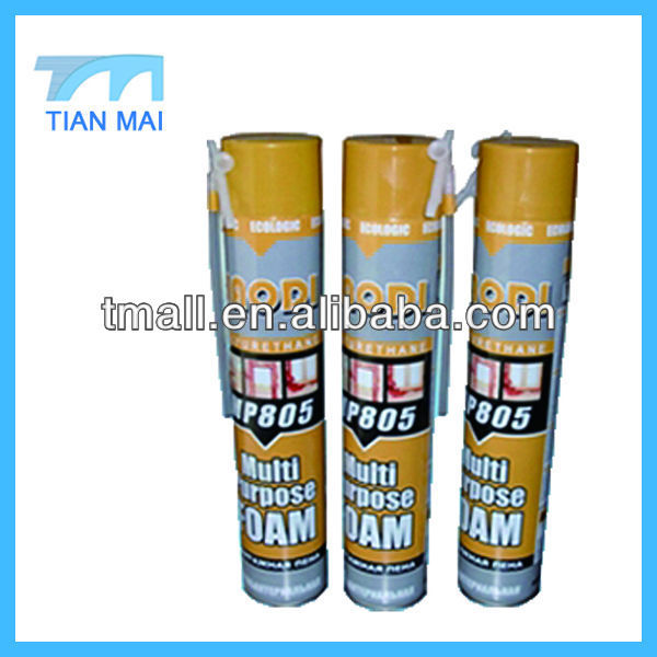 750ml Waterproof High Expanding PU Foam Sealant Spray Foam Insulation Polyurethane Foam Manufacturer