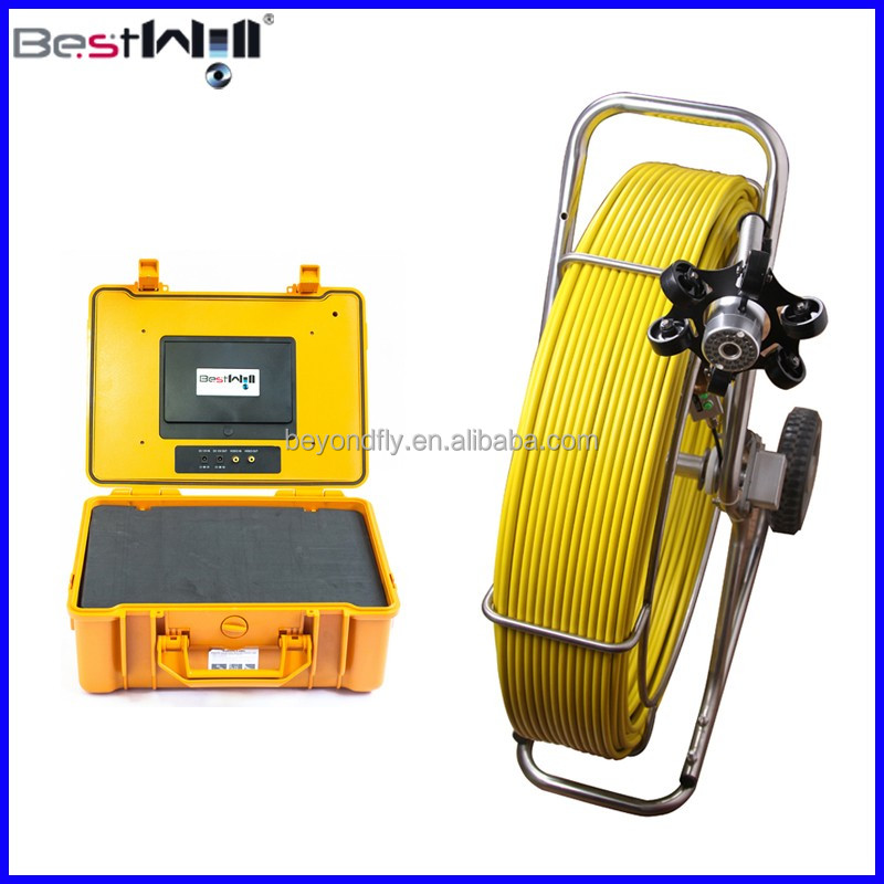 Sewer Pipe Inspection Camera System CR110-7Y with DVR, 60m or 120m Fiber Glass Cable Optional