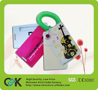 full color printing clear luggage tags