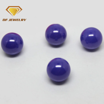 Hot sale wuzhou ball shape amethyst milky cz micro pave beads with hole
