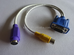 manufacture VGA M to PS2 F +RCA F cable