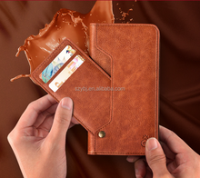 High Quality Split Type Wallet crazy horse Leather overturn Cell Phone Case Cover for iphone X