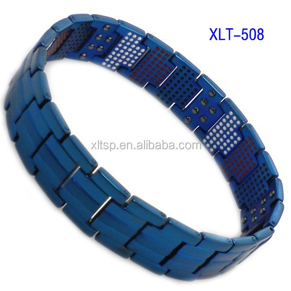 Most popular titanium stainless steel magnetic therapy bracelet
