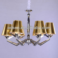 Yellow modern chandelier pendant lamp concealed ceiling light