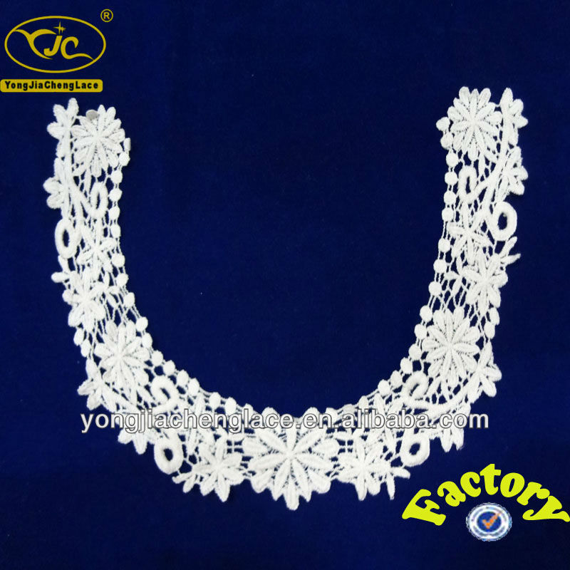 YJC15394 new design machine embroidery square neck lace for churidar