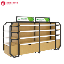 customized wood <strong>shelves</strong> supermarket and pharmacy for retail store adjustable layer display <strong>shelf</strong> with bottom cabinets