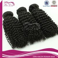 alibaba express Brazilian Hair Kinky Curly Natural Color Human Virgin Sew In Human Hair Extension