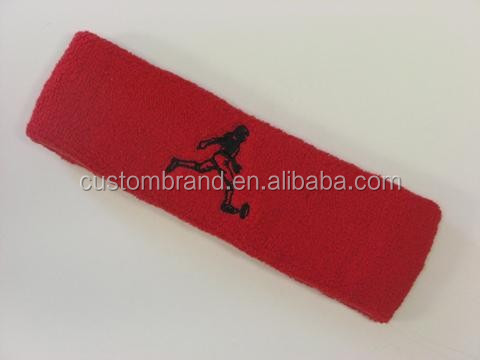Printed logo small order cotton headband